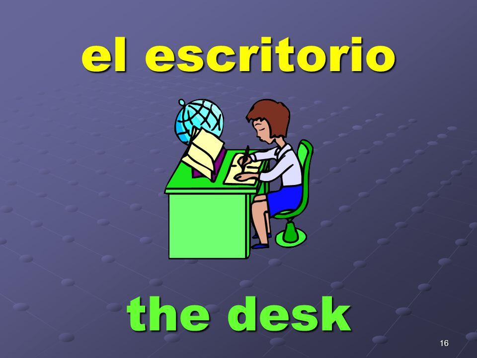 la mesa the table