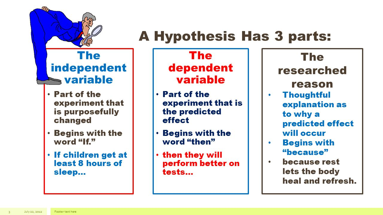 how to explain independent and dependent variables to children