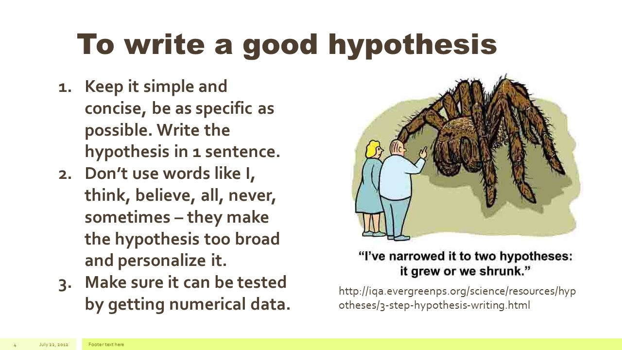 how to write a proper hypothesis Problem & hypothesis science fair create a free website powered by .