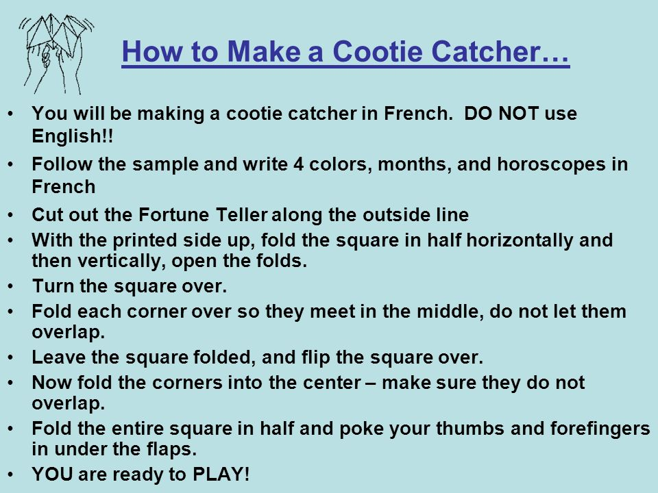 How to Make a Cootie Catcher…