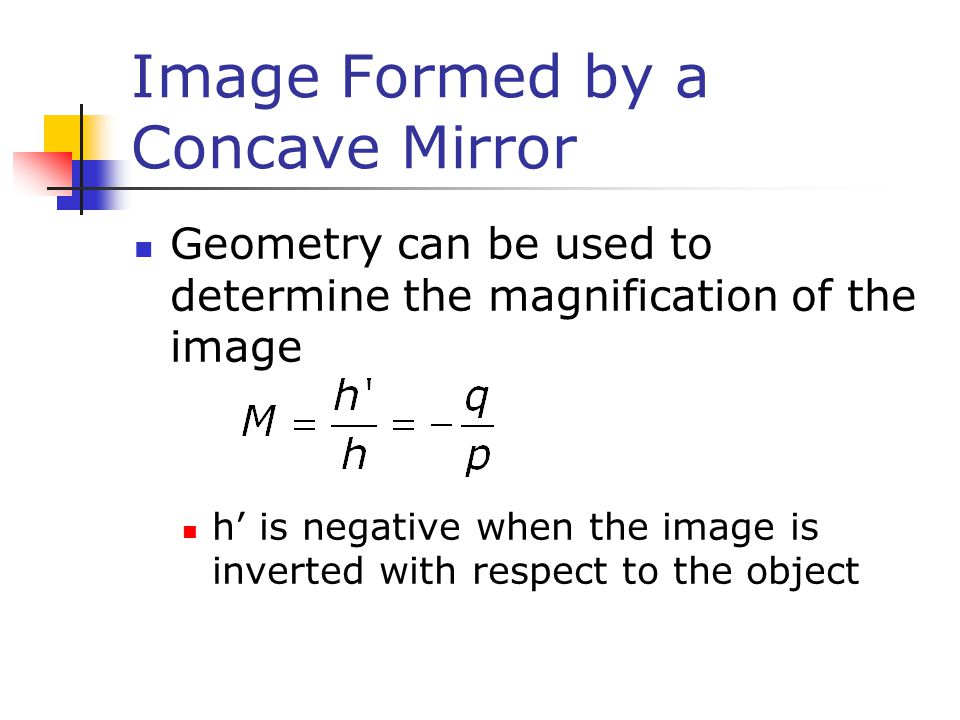 Image Formed by a Concave Mirror
