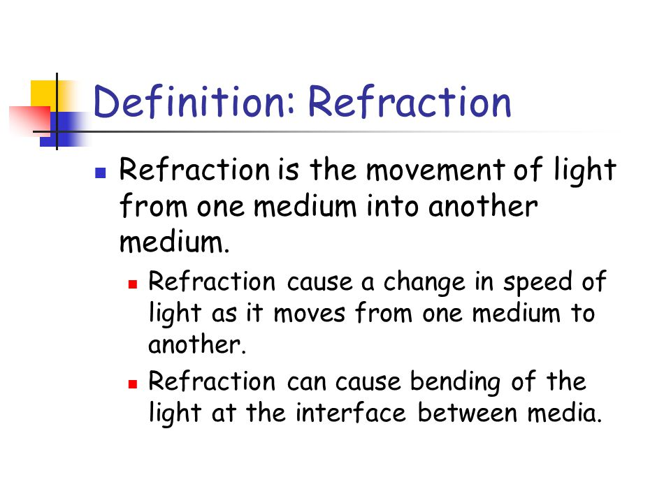 Definition: Refraction