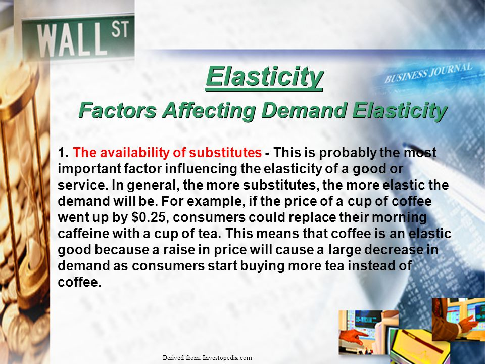 analysis of factors affecting the demand From the information above, i've almost analyzed the factors affecting supply and demand in the economic theory, demand is seem to be emerging more important and effective on price mechanism than supply but relatively, supply joins demand as one of the components of fundamental commodity market analysis.