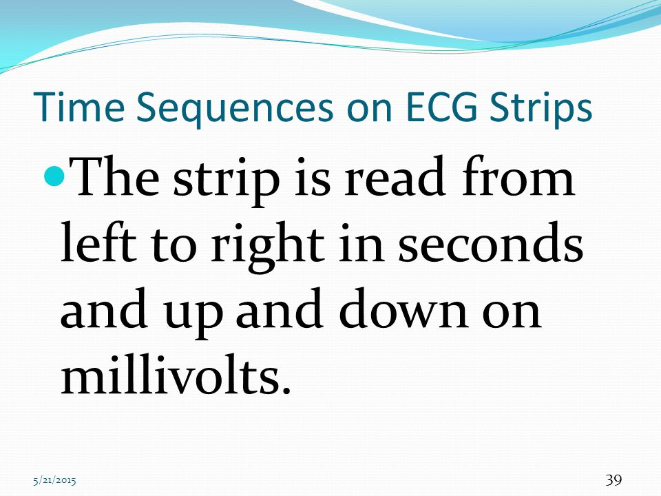 Time Sequences on ECG Strips