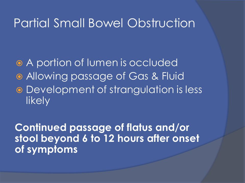 Intestinal Obstruction Ppt Video Online Download