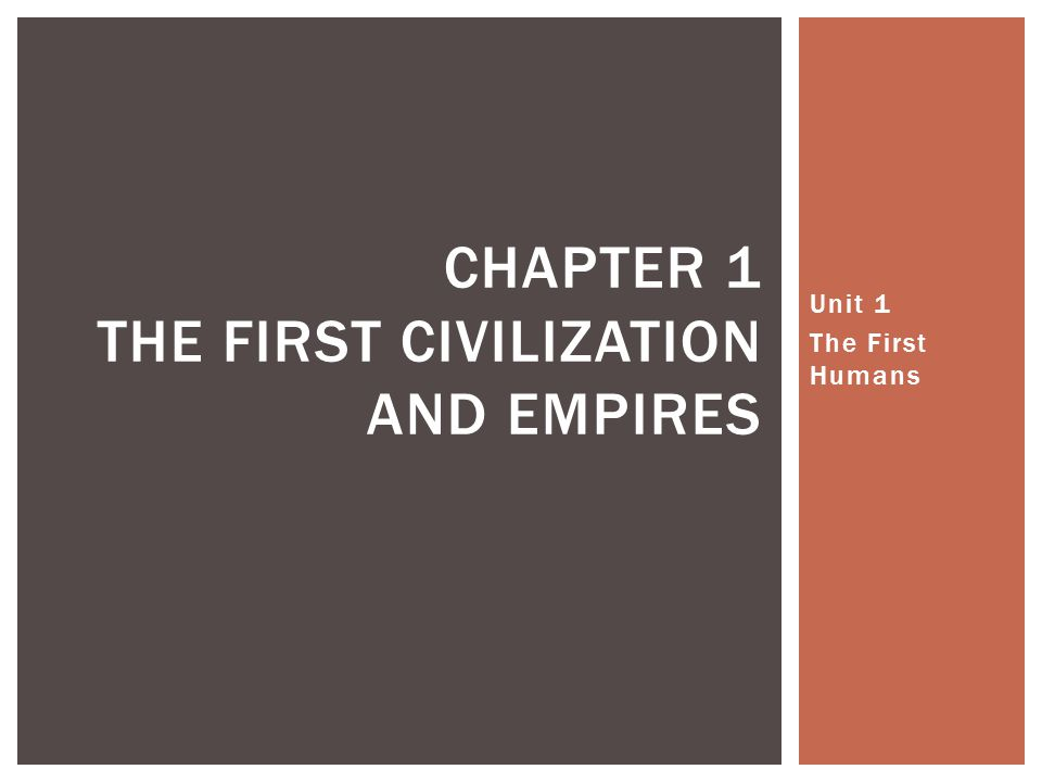 Chapter 1 The first civilization and empires