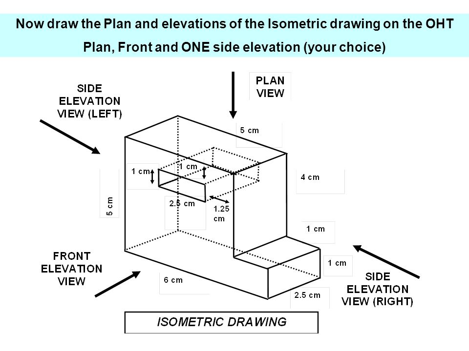 Elevation Plan And Side Views : From isometric drawings to plans and elevations ppt