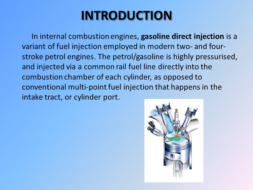 And thought. gasoline direct injection market penetration opinion