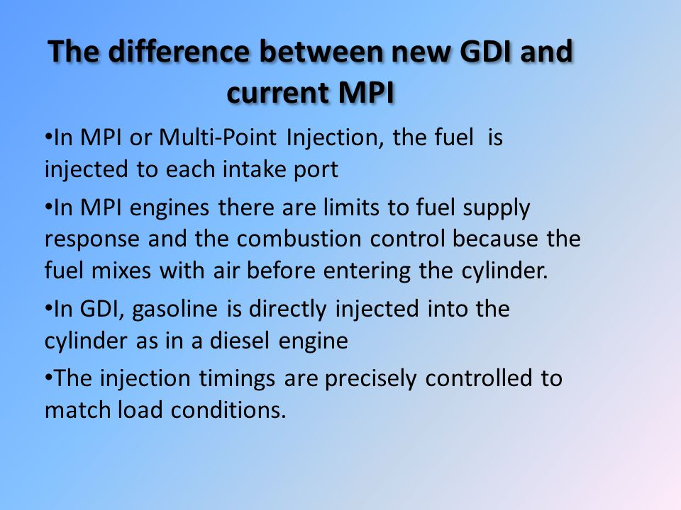 The difference between new GDI and current MPI