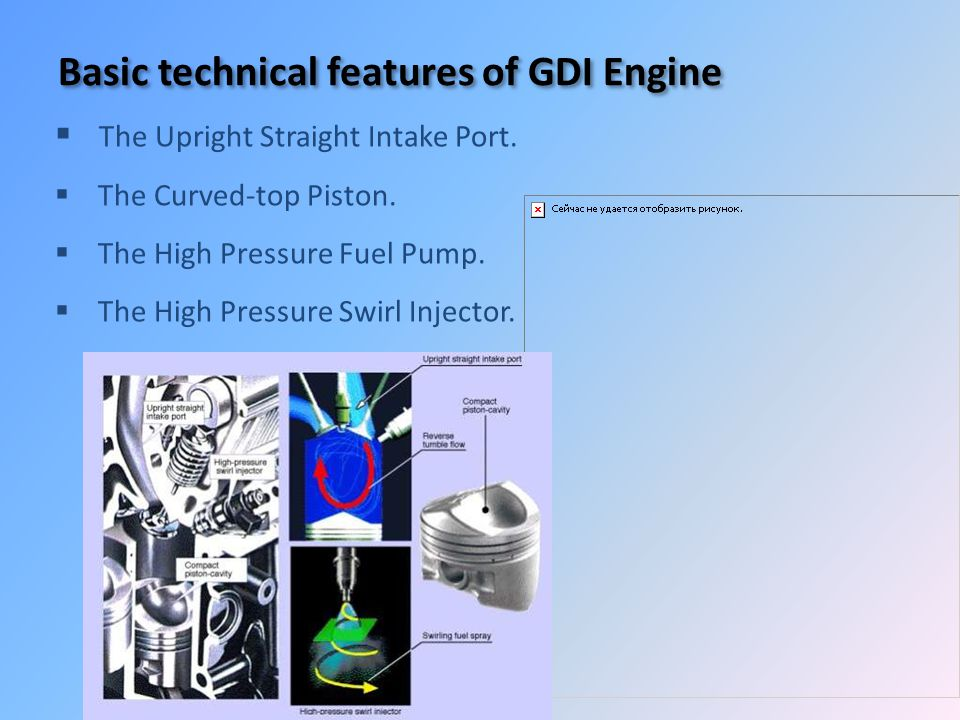 Basic technical features of GDI Engine