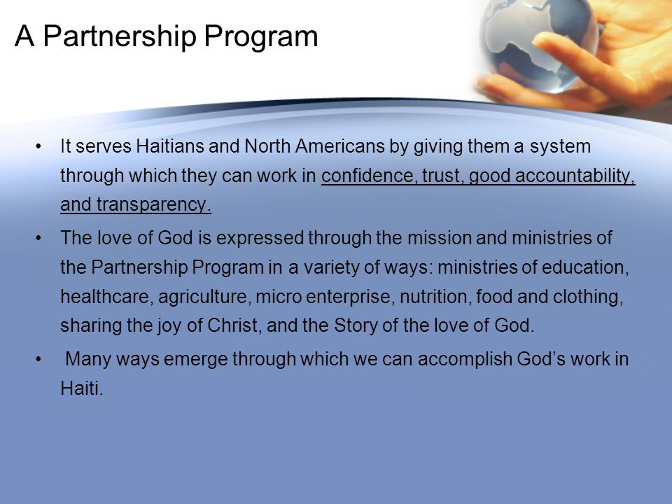 A Partnership Program