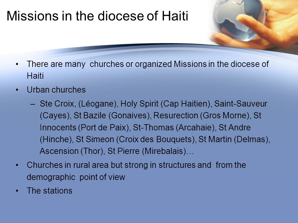 Missions in the diocese of Haiti