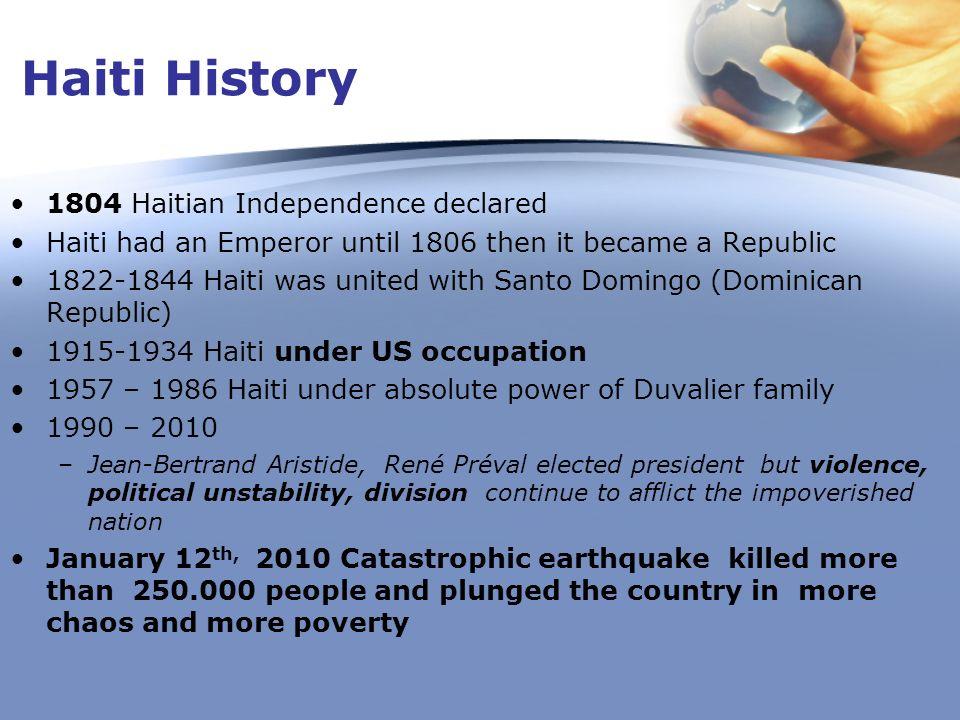 Haiti History 1804 Haitian Independence declared