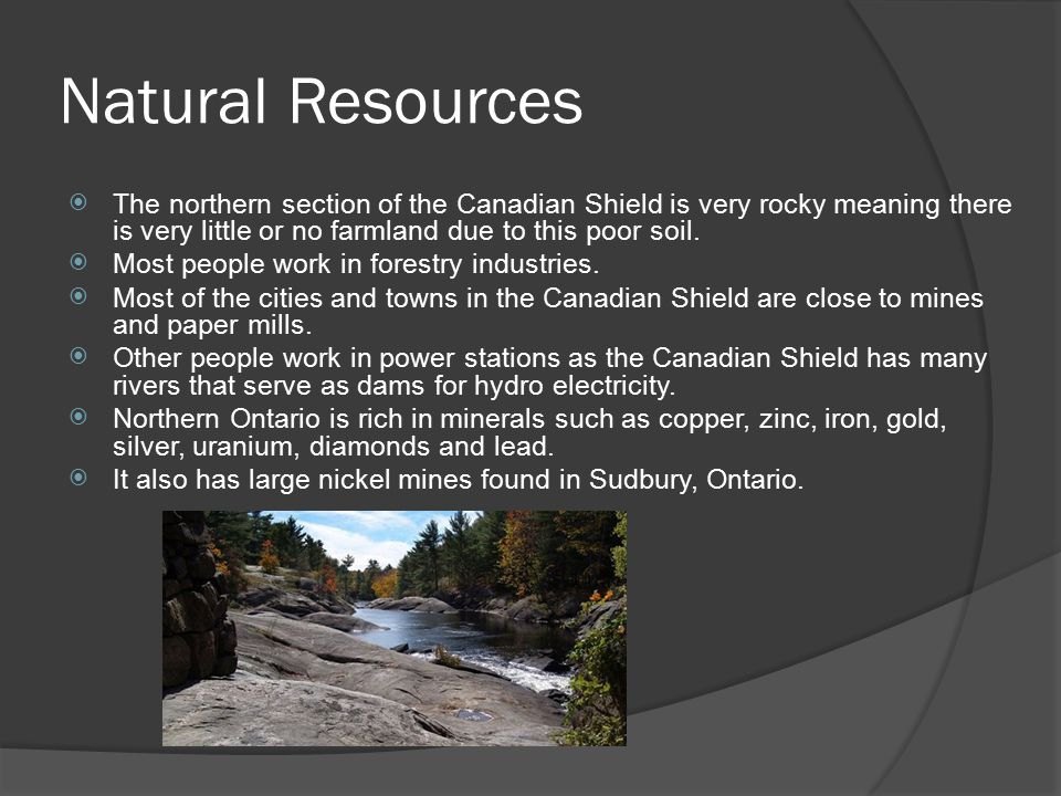 Natural Resources In The Canadian Shield Alberta