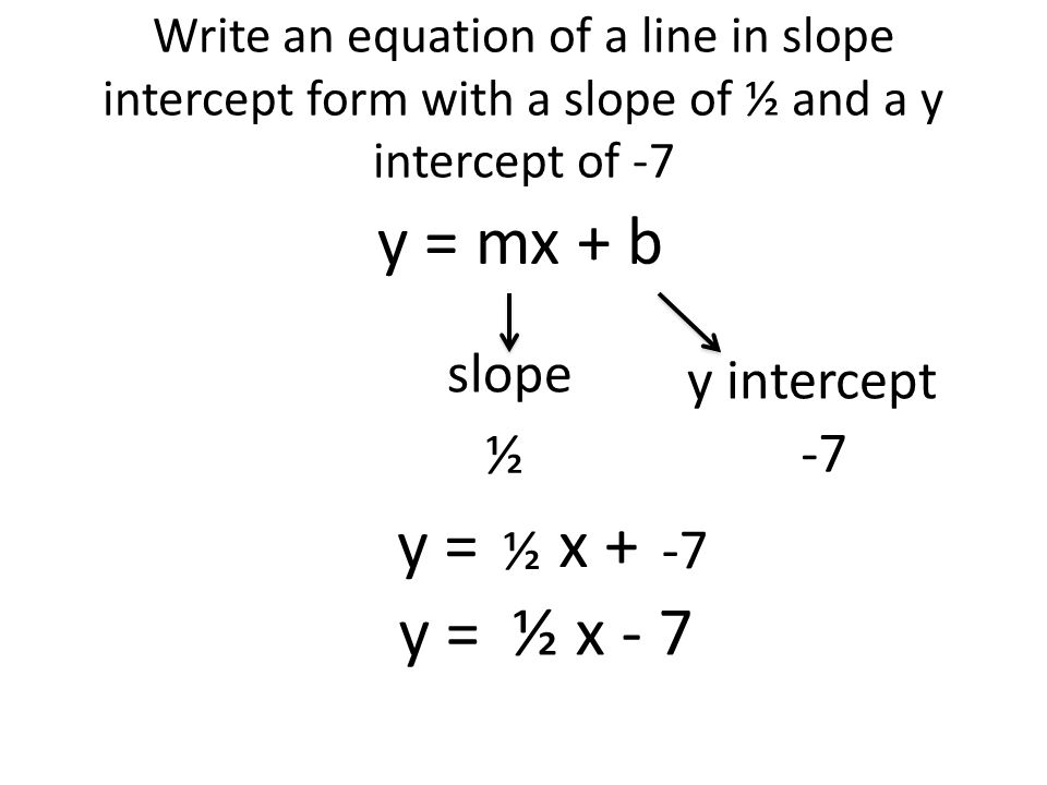 How To Write An Equation In Slope Intercept Form From A Table