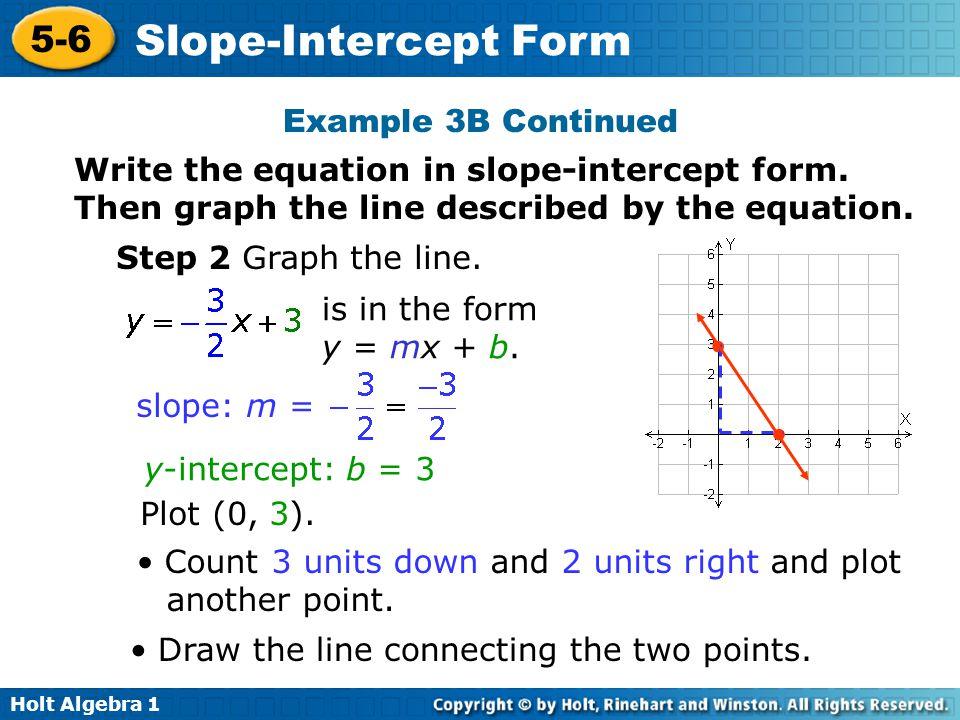 5 6 Slope Intercept Form Ordekeenfixenergy