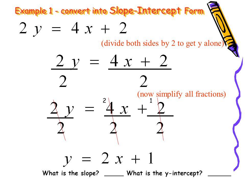 Swbat Write Lines In Slope Intercept Form Monday 11109 Ppt