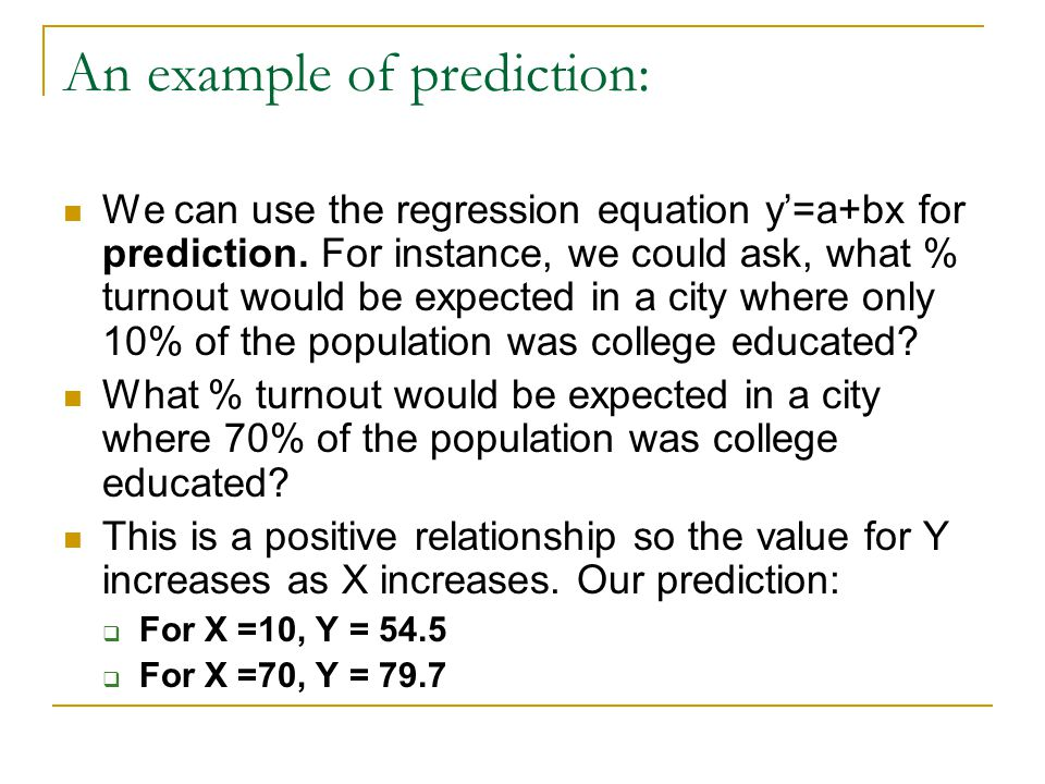 An example of prediction: