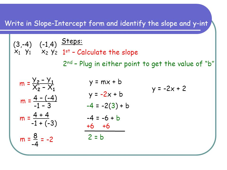 Notes on Slope-Intercept Form - ppt video online download