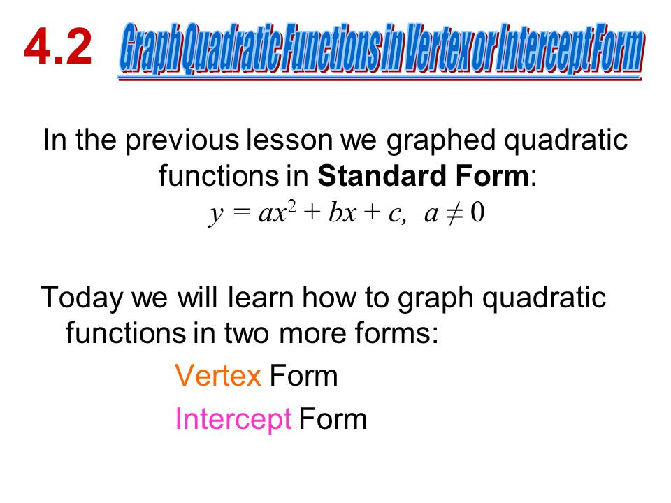 Graph each function. Label the vertex and axis of symmetry ...