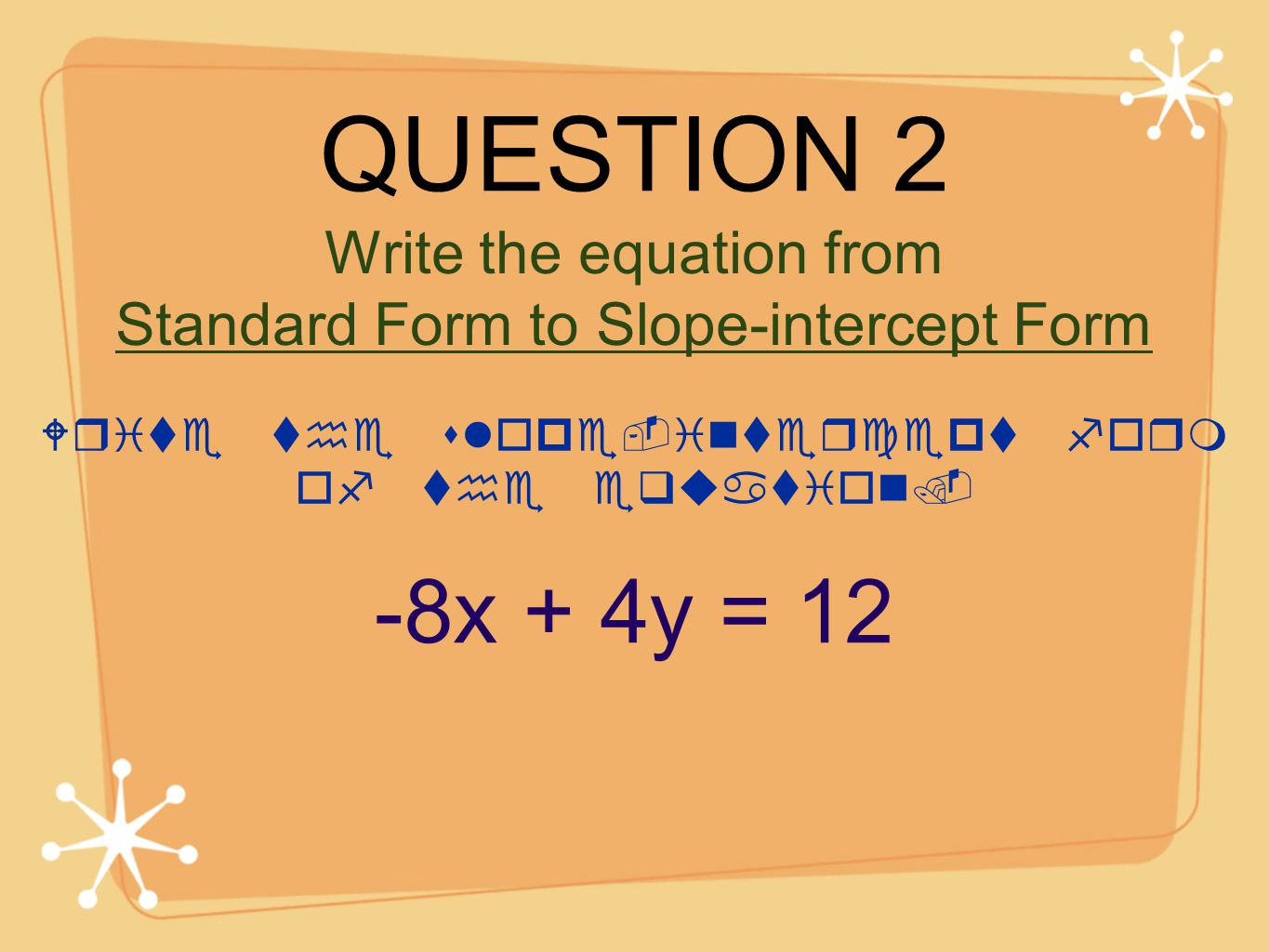 Slope intercept form calculator from equation image collections find the slope of the line that passes through the following question 2 8x 4y 12 falaconquin