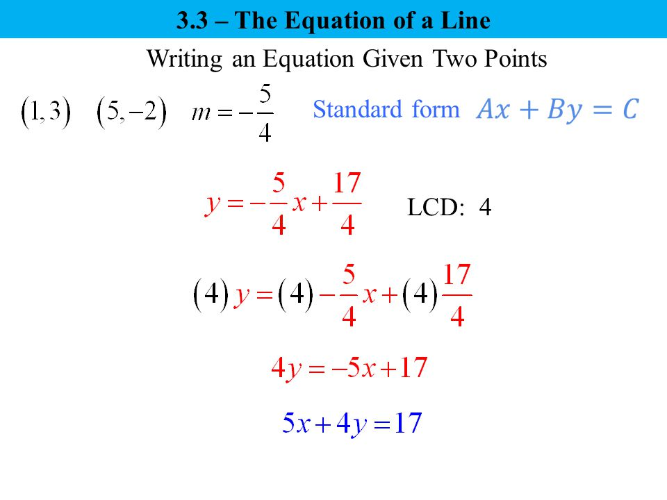 writing linear equations calculator