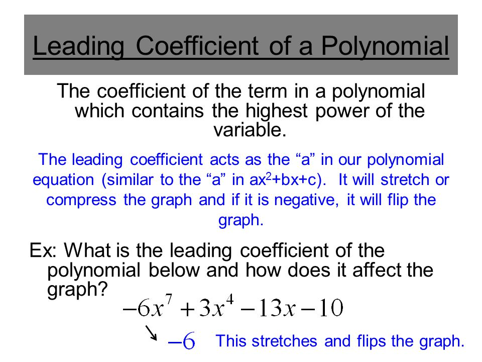 Classification of Polynomials