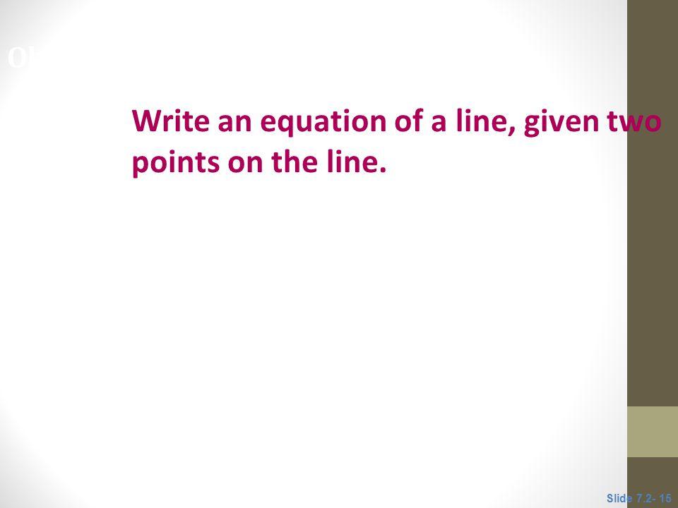 Write a equation of a line