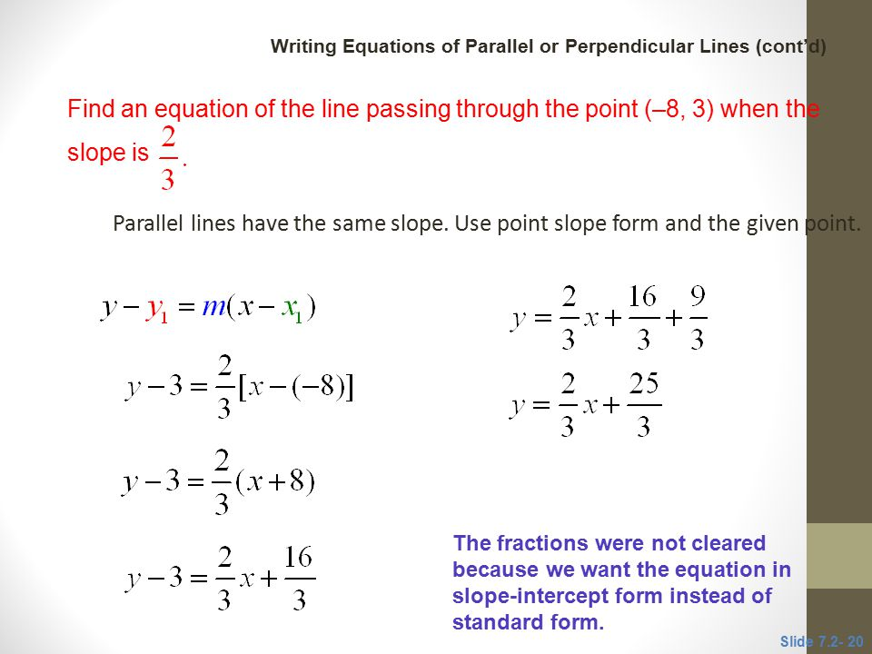 7.2 Review of Equations of Lines; Linear Models - ppt video online ...