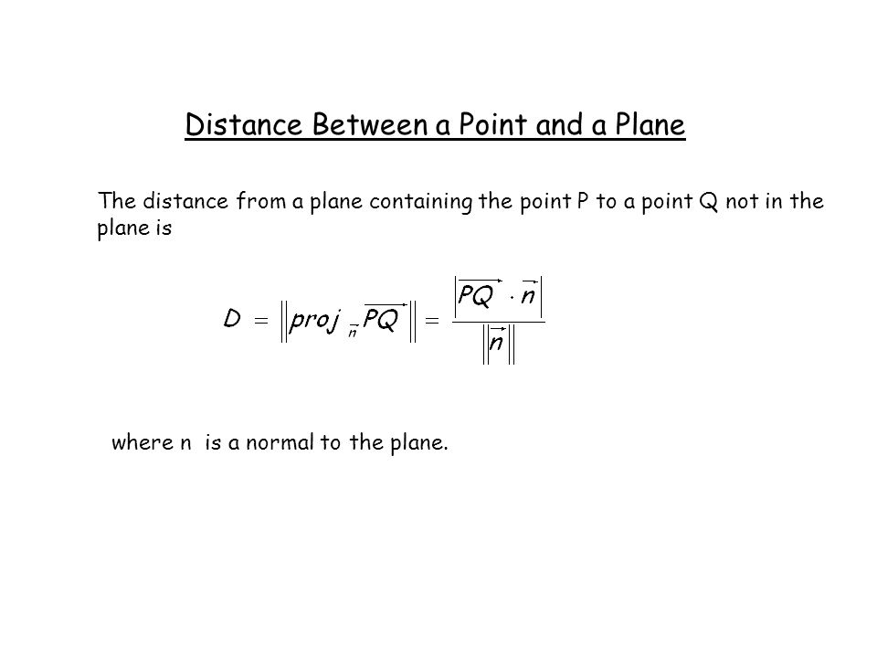 how to find distance between a point and a line