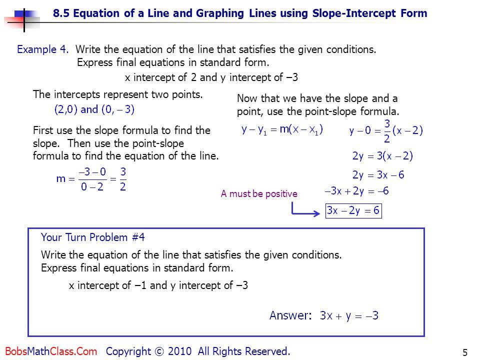 Slope Intercept Form Calculator Two Points Morenpulsar