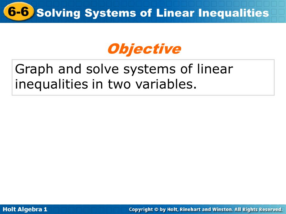 Objective Graph And Solve Systems Of Linear Inequalities In Two. 1 Objective Graph And Solve Systems Of Linear Inequalities In Two Variables. Worksheet. Graphing Inequalities In Two Variables Worksheet 6 6 Answers At Clickcart.co