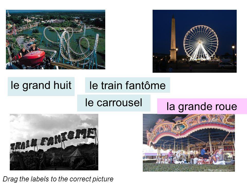 le grand huit le train fantôme le carrousel la grande roue