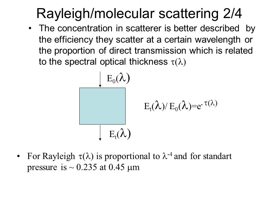 Rayleigh/molecular scattering 2/4