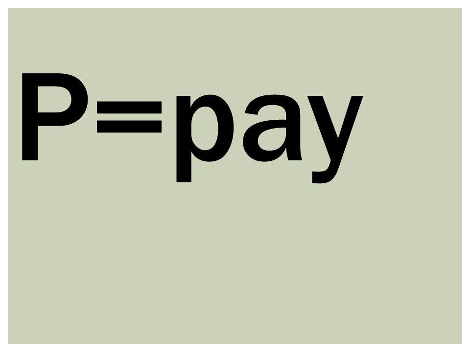 P=pay