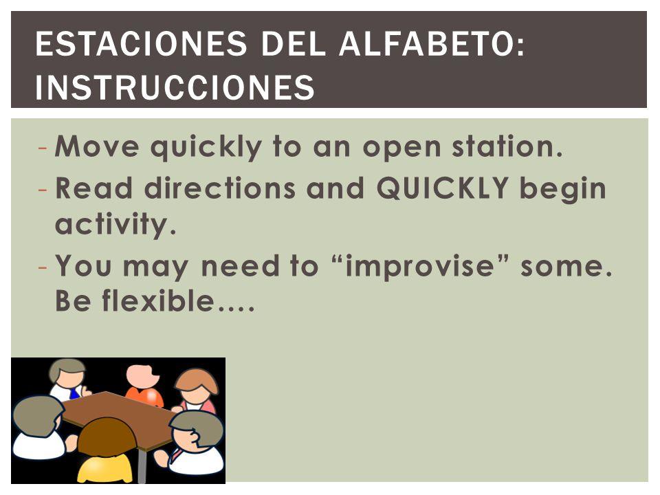 Estaciones del Alfabeto: Instrucciones