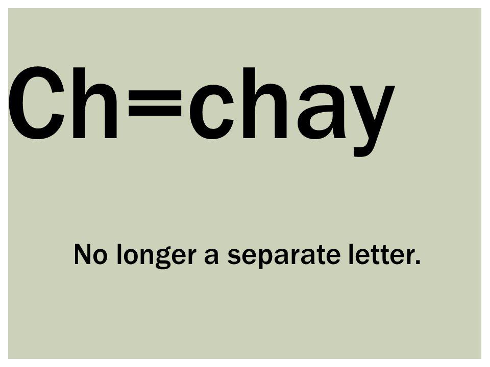 No longer a separate letter.