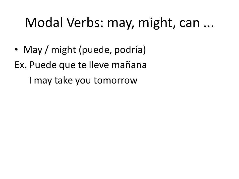 Modal Verbs: may, might, can ...