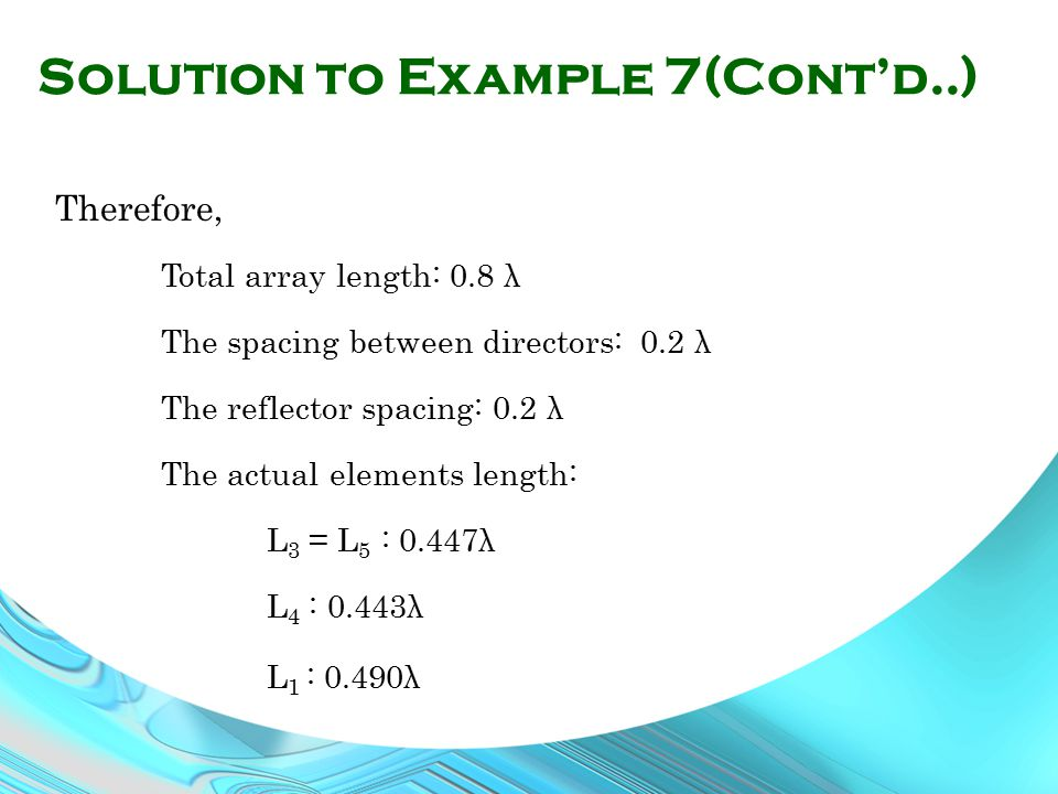 Solution to Example 7(Cont'd..)