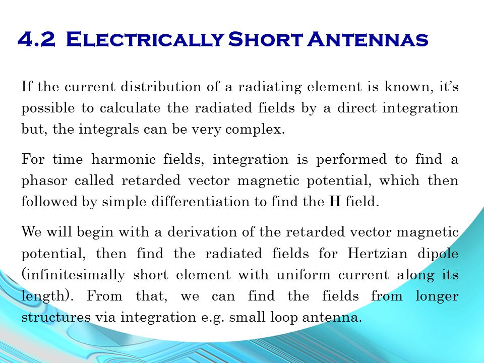 4.2 Electrically Short Antennas
