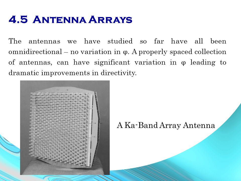 4.5 Antenna Arrays A Ka-Band Array Antenna