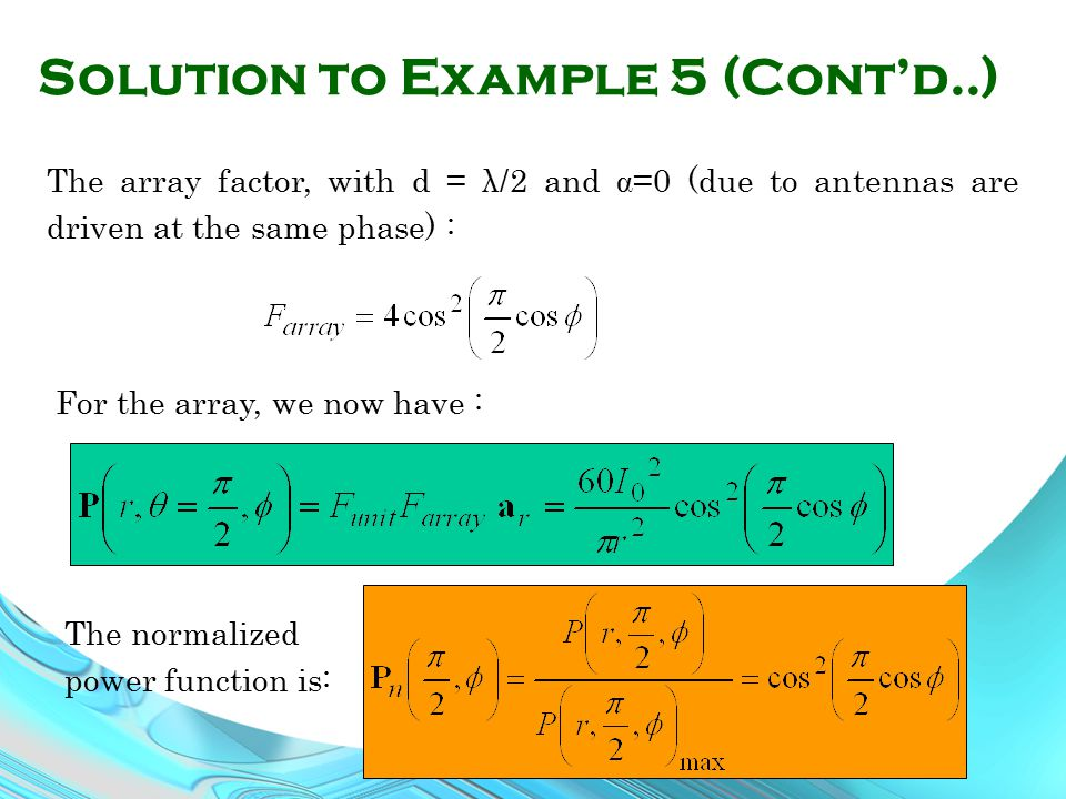 Solution to Example 5 (Cont'd..)