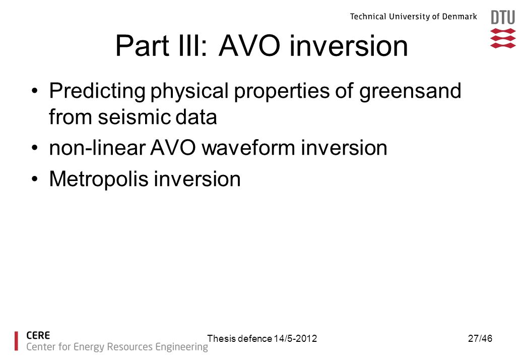 Part III: AVO inversion
