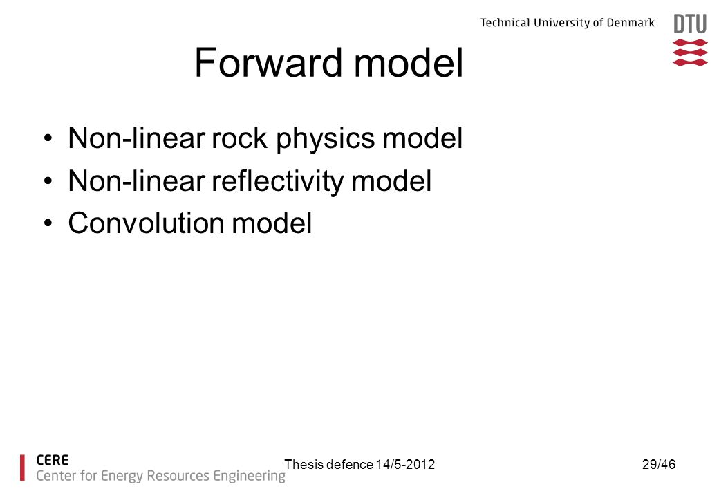 Forward model Non-linear rock physics model