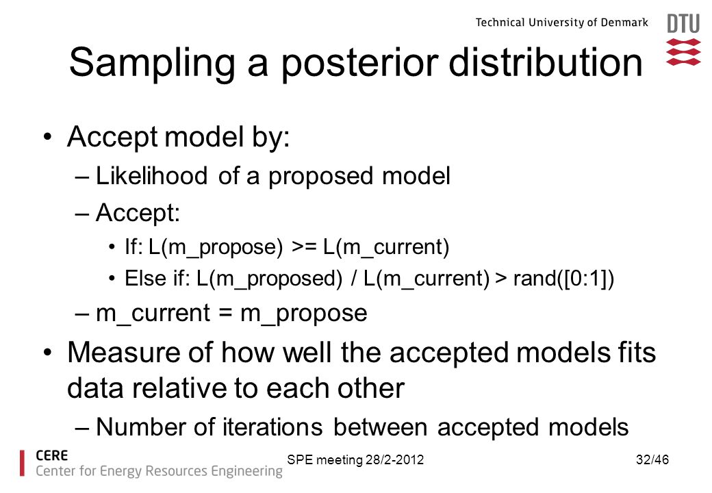 Sampling a posterior distribution