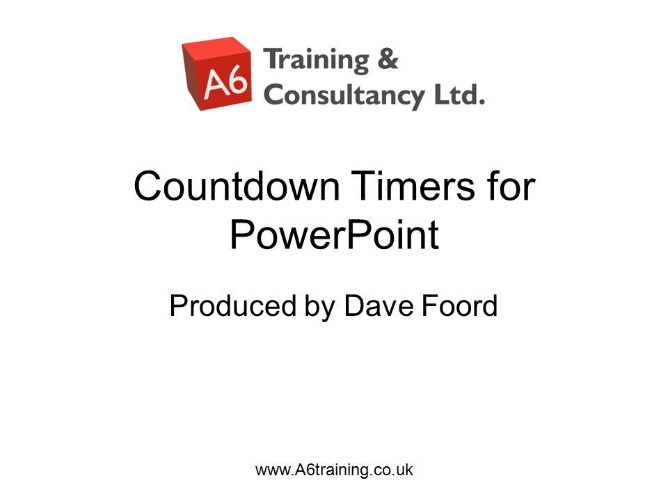 timer in powerpoint slide