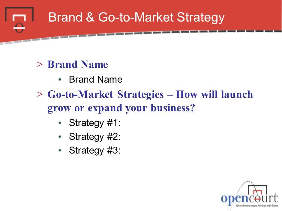 Brand & Go-to-Market Strategy