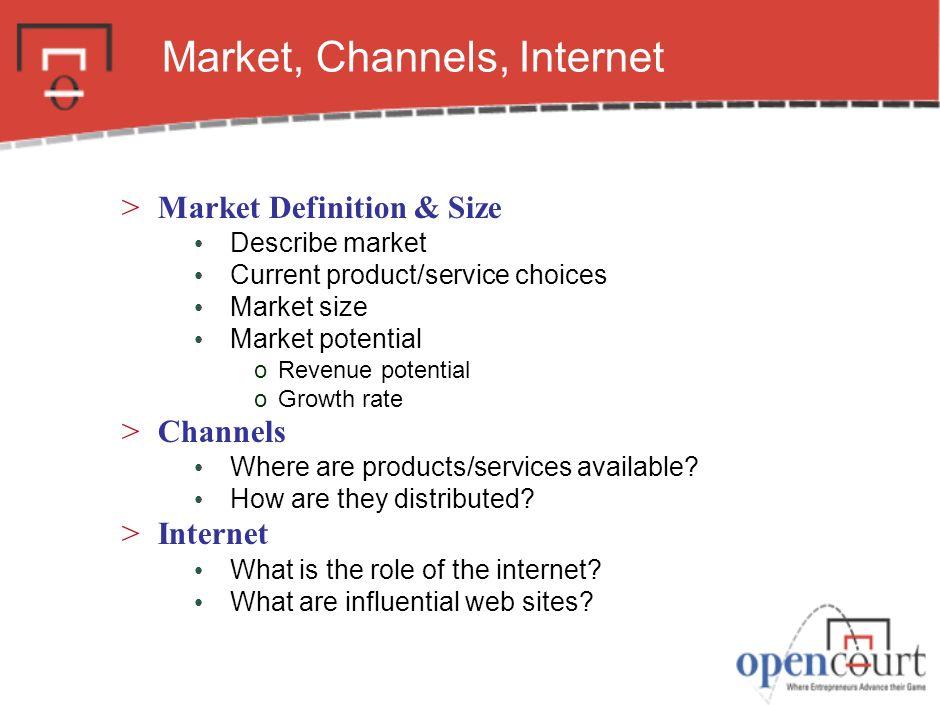 Market, Channels, Internet