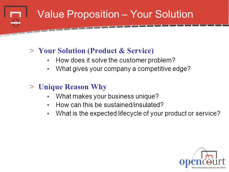 Value Proposition – Your Solution