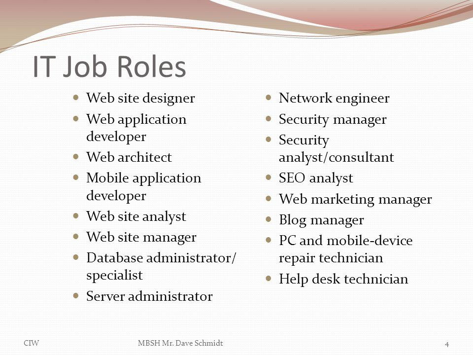Lesson 1 Introduction to IT Business and Careers ppt download – Security Site Manager Jobs